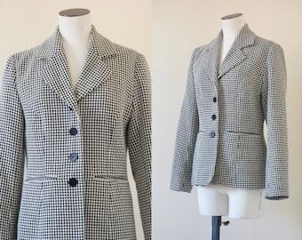 Black & white woolen jacket | 1990's by Cubevintage | medium