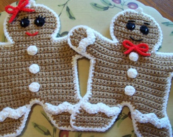 Gingy and Ginger Wall Hangings / PotHolders