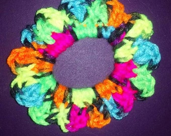 Crochet Hair Scrunchies-Flower