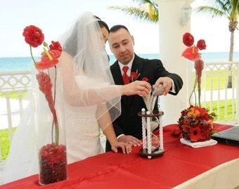 Heirloom Wedding Hourglass - The Valentine Wedding Unity Sand Ceremony Hourglass