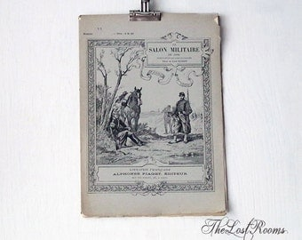 1 Issue of Le Salon Militaire 1888 French Magazine with Engravings