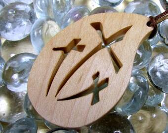 Three Cross Pendant / Hard Maple Wood