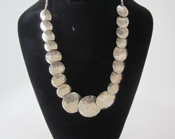 WOMENS SILVER Bold and Big  NECKLACE