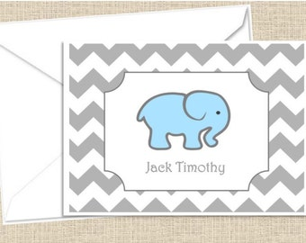 Personalized foldover note cards with envelopes - set of 10