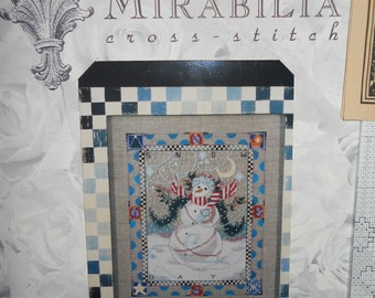 Mirabilia Designs Snow Days Christmas Snowman Counted Cross Stitch Chart Nora Corbett