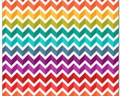 Made to order Rainbow Chevron OS  diaper- rainbow- rainbow baby- chevron- stripes- Zig zag- one size- pocket diaper- diaper cover