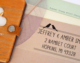 Love Birds Address Stamp • Pre-inked Stamp (P2272)