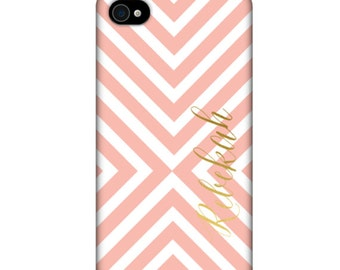 Monogrammed iPhone /  Cell Phone Case - MAZE Collection - Blush
