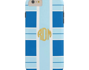 Monogrammed iPhone / Cell Phone Case - TORY Collection - Blue