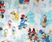 Vintage Disney Flat Twin Sheet, Circa 1960's