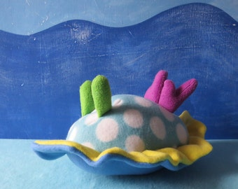 Little Sea Slug, Polka Dot Nudibranch Plush, Nudibranch, Sea Slug, Slug, Sea Creature