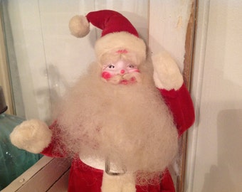 Harold Gale Santa ~ Antique Santa in Red Velvet Suit White Face ~ Collectible Santa's ~ Old Fashioned Santa Claus ~ Holiday Decor