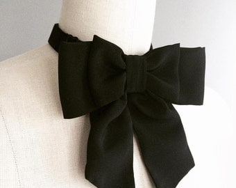 NEW  Black silk Bow tie