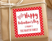 Personalized Valentine's Day Gift Stickers - Set of 12