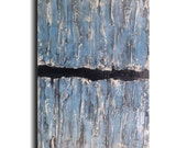 Original Large Abstract painting - 18 X 36- FREE US SHIPPING by Artist JMJartstudio- Reaching Up -Wall art- Blue painting-XXl painting