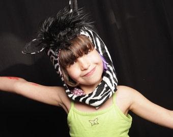 Zebra Hat, Child Costume, Zebra Costume, Zebra