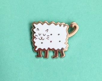 Biscuit Kitty Enamel Pin