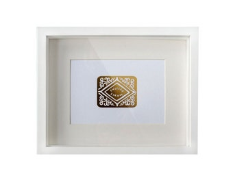 Golden Custard Cream Foil Print