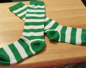 Strawberry Shortcake Green and White Stripe Socks