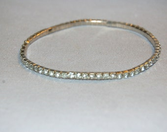 Vintage / Bracelet / Rhinestone / Flex / Sparkle / Bling / old jewelry