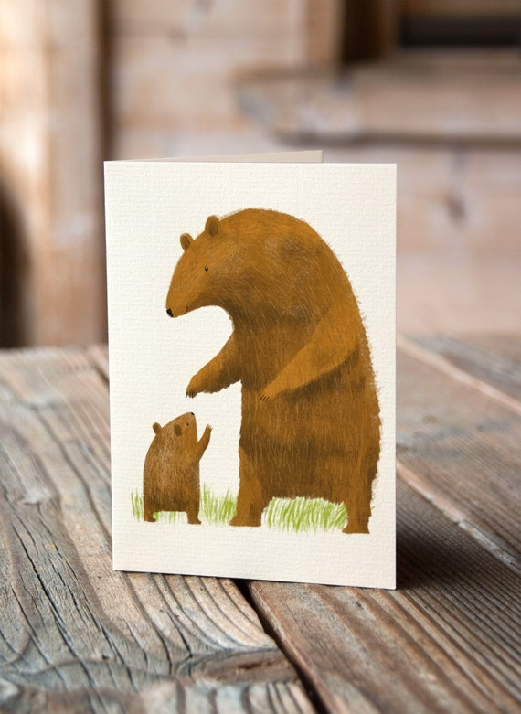 Bear and Cub - Mother's Day, Thank You, Birthday, Greetings Card