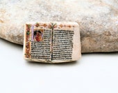made to order - Bible book ceramic cab poppy in the sky - religious easter romantic wedding miniature collection