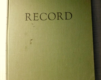 Vintage Record Keeping Book Journal Lined Pages