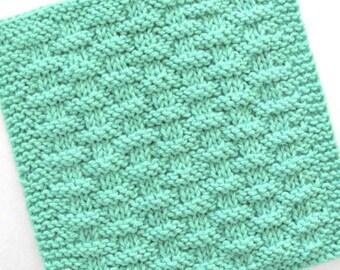 Knit Dishcloth, Cotton Washcloth, Knit Washcloth, Mint Green Kitchen Decor, Seafoam Green Kitchen Decor