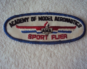 Vintage  Academy of Model Aeronautics AMA Sport Flier Uniform  Patch Patch