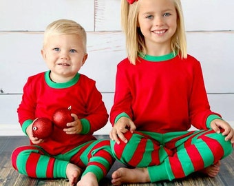 Matching Christmas Pajamas PJs Personalized with name or