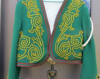 VINTAGE 1970 Masonic Fez    fancy SUPREME cOUNCIL SHRINE lodge  champions  embroidery wool dress Ceremony jacket
