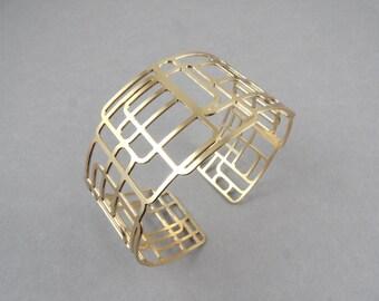 square bracelet, geometric cuff, cuff bracelet , geometric cuff bracelet