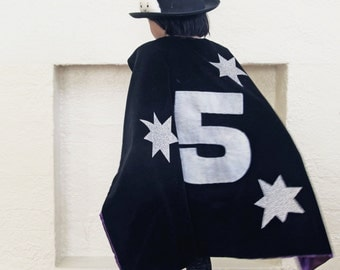 Kids Dress Up Magician Wizard Cape for Birthday, Halloween Party