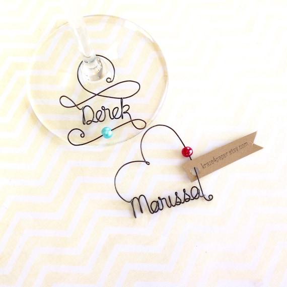 Personalized Wedding Wine Glass Charms : Wine charms, Personalized Wine Glass Charms, Wedding Favor, Wine Glass ...