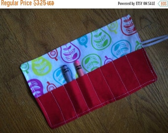 Sale Christmas in July Crayon Roll up pears
