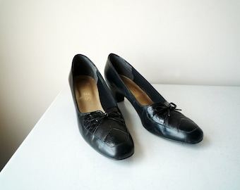 Vintage Black Pumps SELBY made in USA, SALE