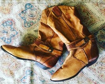 vintage. 80s Retro Cowboy Boots // 8