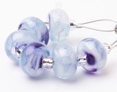 Purple Ice Spacer Swirl - Handmade Lampwork Glass Beads by Sarah Downton