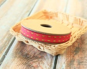 Turkish PINK Vibrant Stitched Grossgrain woven ribbon