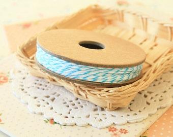 AQUA BLUE Divine Twine 20yd Reel 4-ply cotton bakers twine string