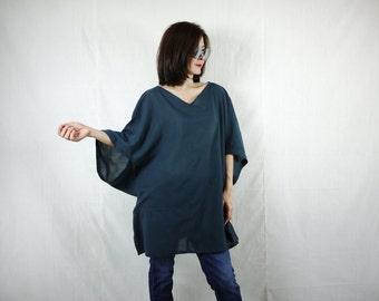 Boho Casual Elegant Plus Size 3/4 Sleeve Drop Shoulder V Neck Azo Free Color Black Light Cotton Blouse Women Top - SM699