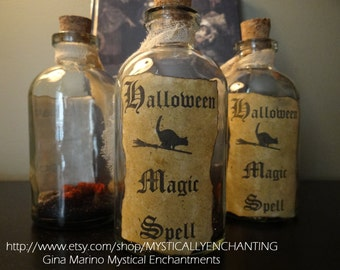 Halloween Magic Spell Bottle Potion Bottle