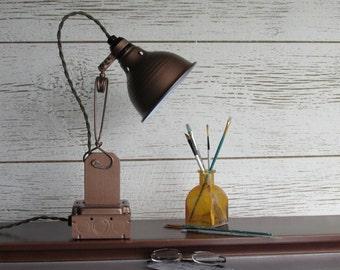 desk Lamp - industrial design - Warm Copper