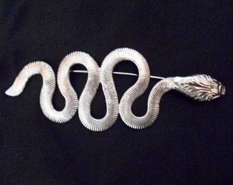 Vintage Coiled Snake Brooch