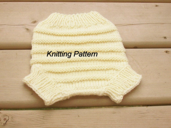 Knitting Pattern For Wool Diaper Covers : PDF Knitting Pattern - Baby Diaper Cover,Handknitted Wool ...