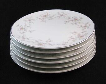 Noritake Arlene Dinner Plates #5802 (6) Circa 1950's Japan