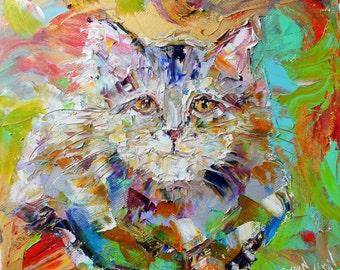 Fine art Print - Modern Cat Print made from image of Original painting by Karen Tarlton fine art