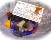 Capricorn Astrology Energy Power Pouch with 7 Stones and Crystals FREE SHIPPING