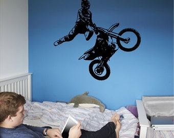 Motocross Rider Wall Decal Removable Motocross Wall Sticker