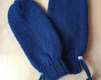 Adaptive Mittens for Special Needs Disabled Youth, Protective, Navy Blue, Adaptive Clothing